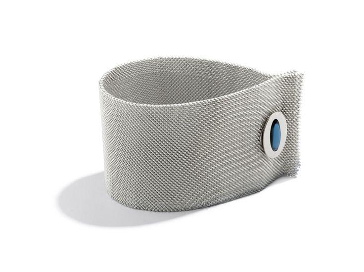 Bracciale argento con polsino maglia milanese silver bracelet queriot jewellery gioiello fashion