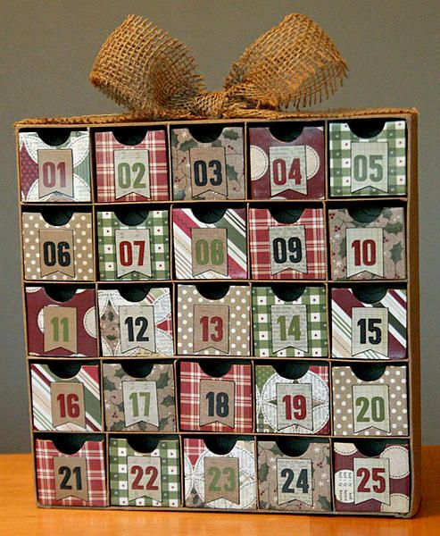 Other: Altered Advent Calendar/Christmas Countdown Box http://www.scrapbook.com/gallery/image/other/3807113.html