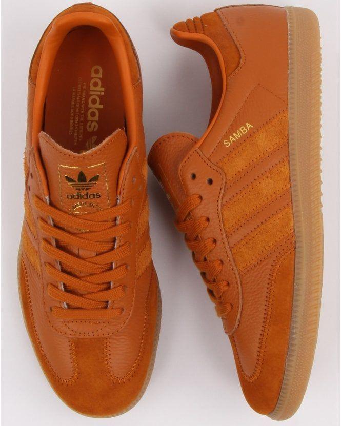 Adidas Samba Og Ft Trainers Burnt Orange | Adidas samba ...