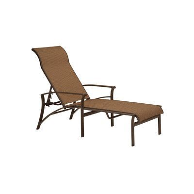 Tropitone Corsica Reclining Chaise Lounge Finish: Parchment, Fabric: Sparkling Water