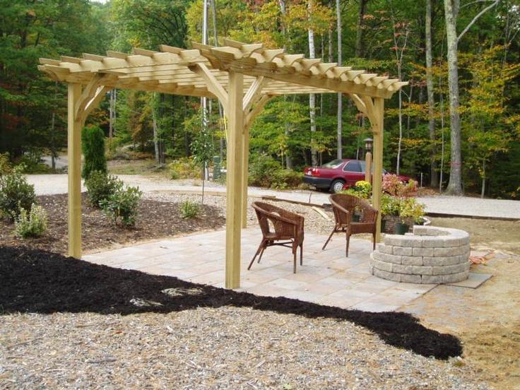 pergola with pit outdoor entertaining design
