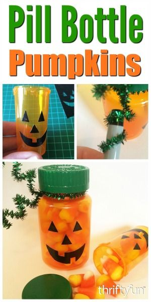 This is a guide about making pill bottle pumpkins. Recycle your empty prescription bottles into these cute treat holders.