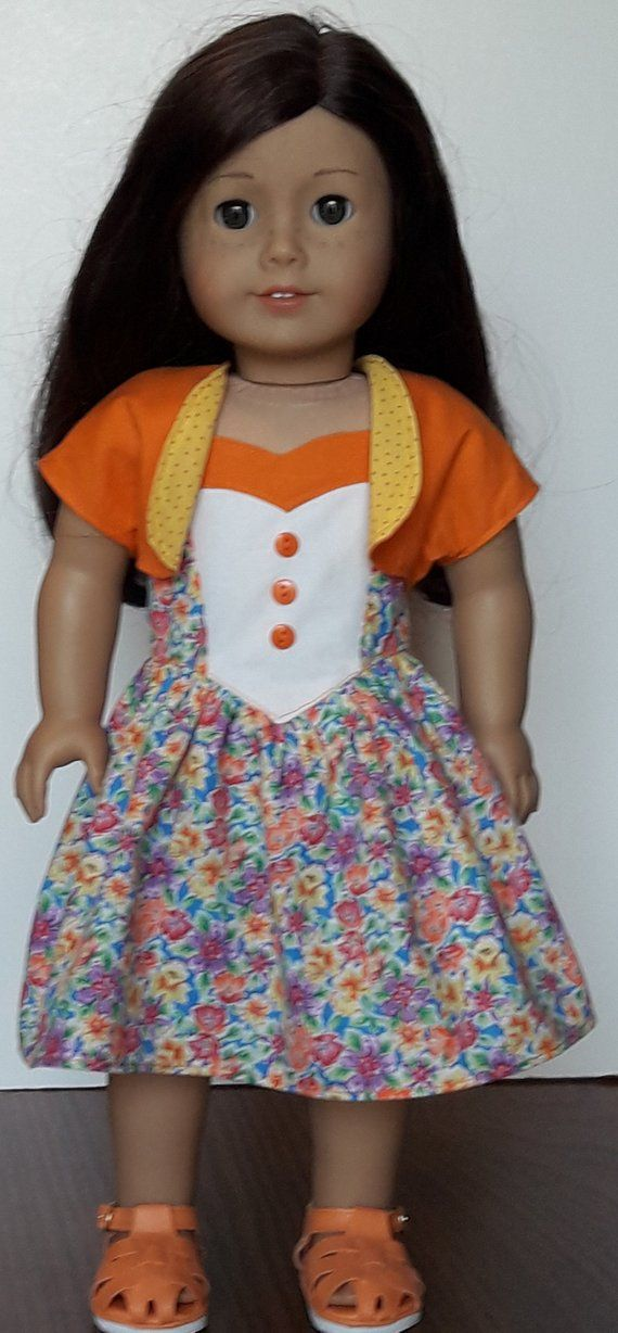 1950 s Floral Sundress And Bolero Fits American Girl Or Similar 18-Inch  Dolls   Pinterest acb0a0a415e