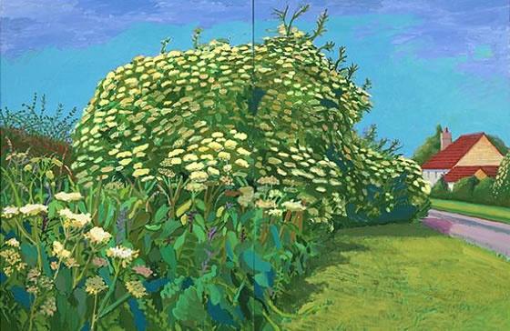 David Hockney -Elderflower Blossom, Kilham, 2006