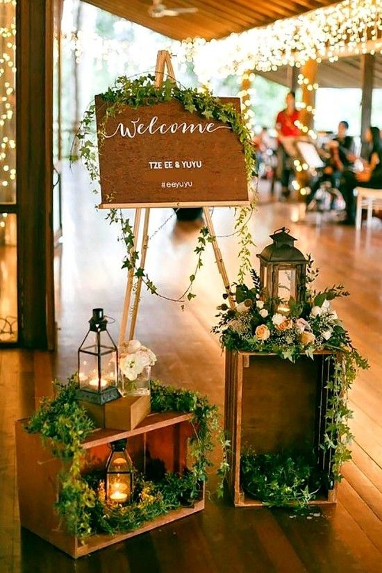75 fruit boxes Decoration ideas for a rustic wedding