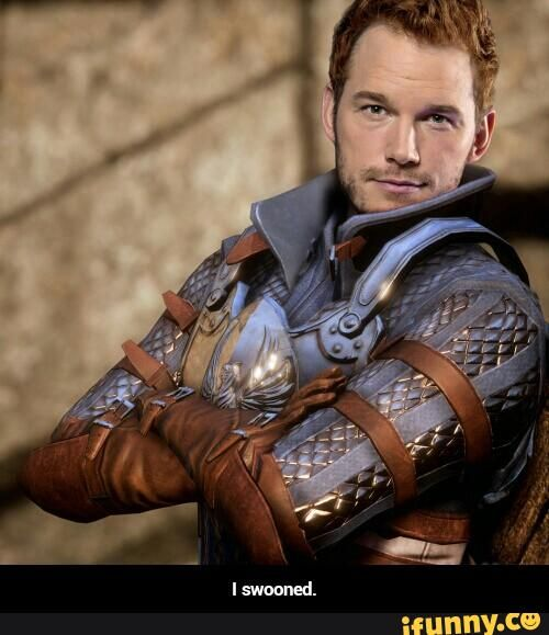 I swooned. Haha Chris Pratt as Alistair!