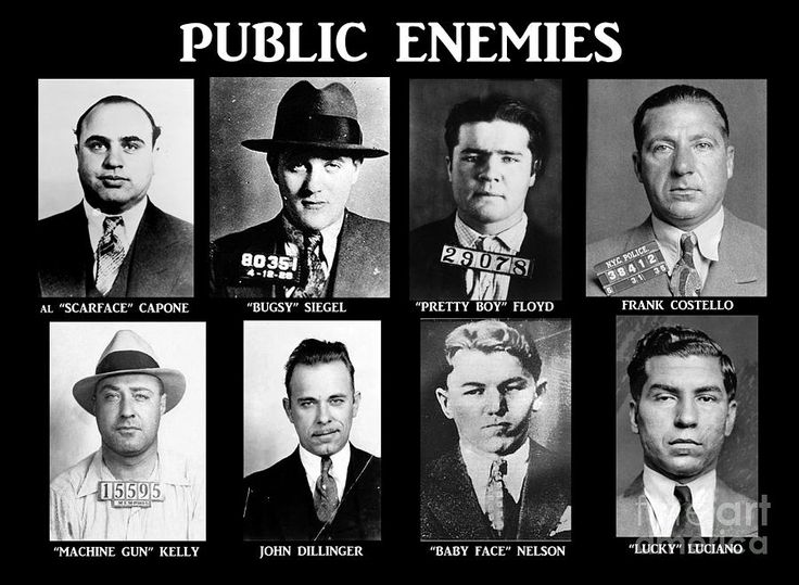 Original Gangsters - Public Enemies Photograph - Original Gangsters - Public Enemies Fine Art Print