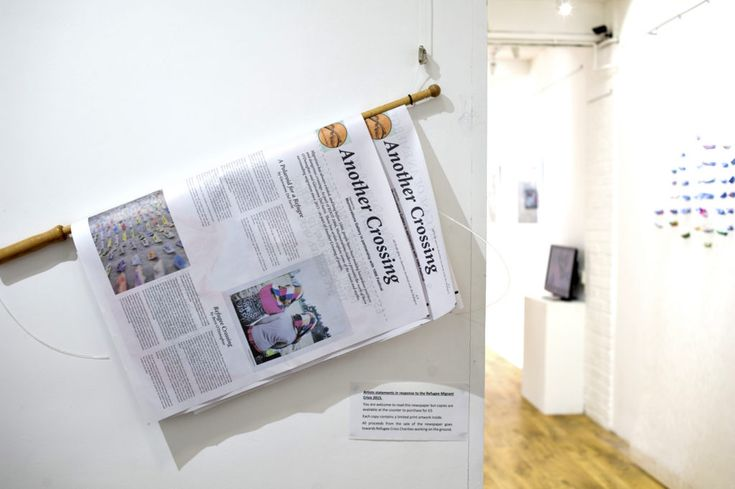 Exploring migration through Polaroid portraits and paper boats in Another Crossing exhibition at Murmurations Galllery in Brexhill-on-Sea. All proceeds from the newspaper catalogue support #refugee relief efforts. #newspaperclub #photography #london #cafe #digitaltabloid #newspaper #print