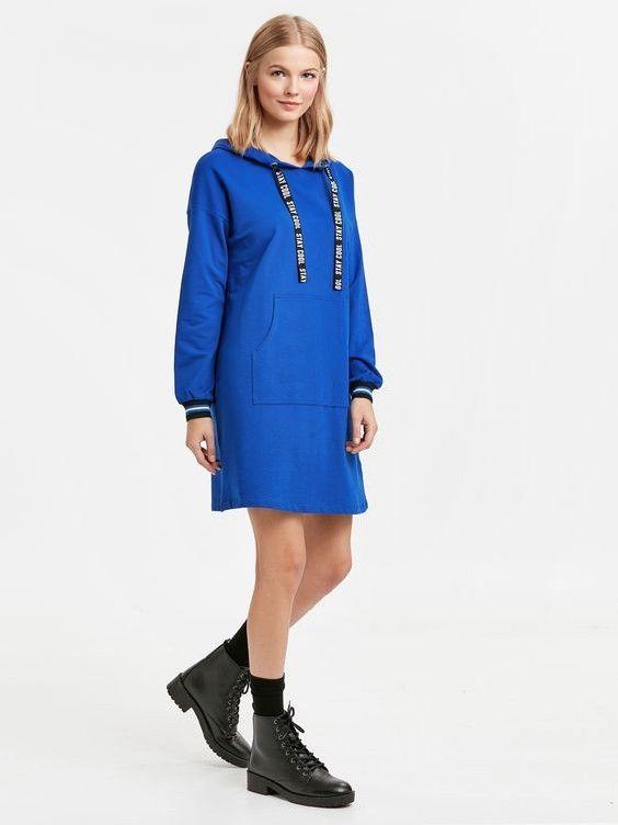 cf29db516a41c lcw Bayan Elbise Modelleri Saks Mavi Kısa Uzun Kol Kapşonlu Cepli Kazak  Elbise Siyah Bağcıklı Postal Bot #moda #fashion #outfits #outfitoftheday ...
