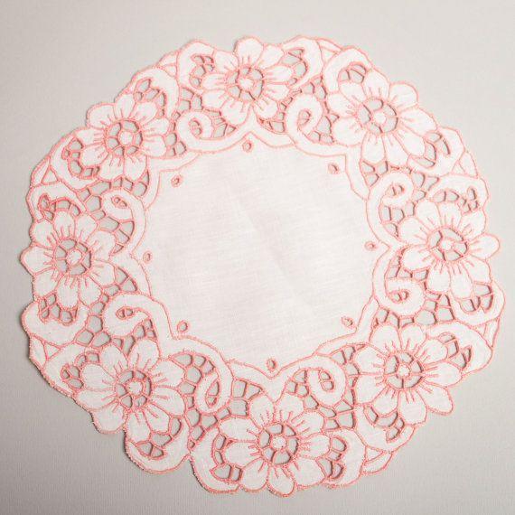 Elegant Vintage Style 100 Hand Made White Pink by LigaKandele, $25.00