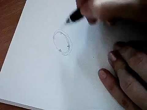 Акварельный эскиз кольца - YouTube