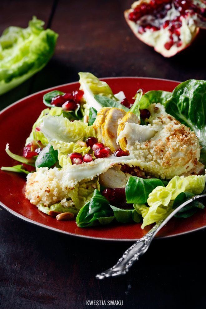 Turkey, Cranberries, Goat's Cheese and Pommegranate Salad