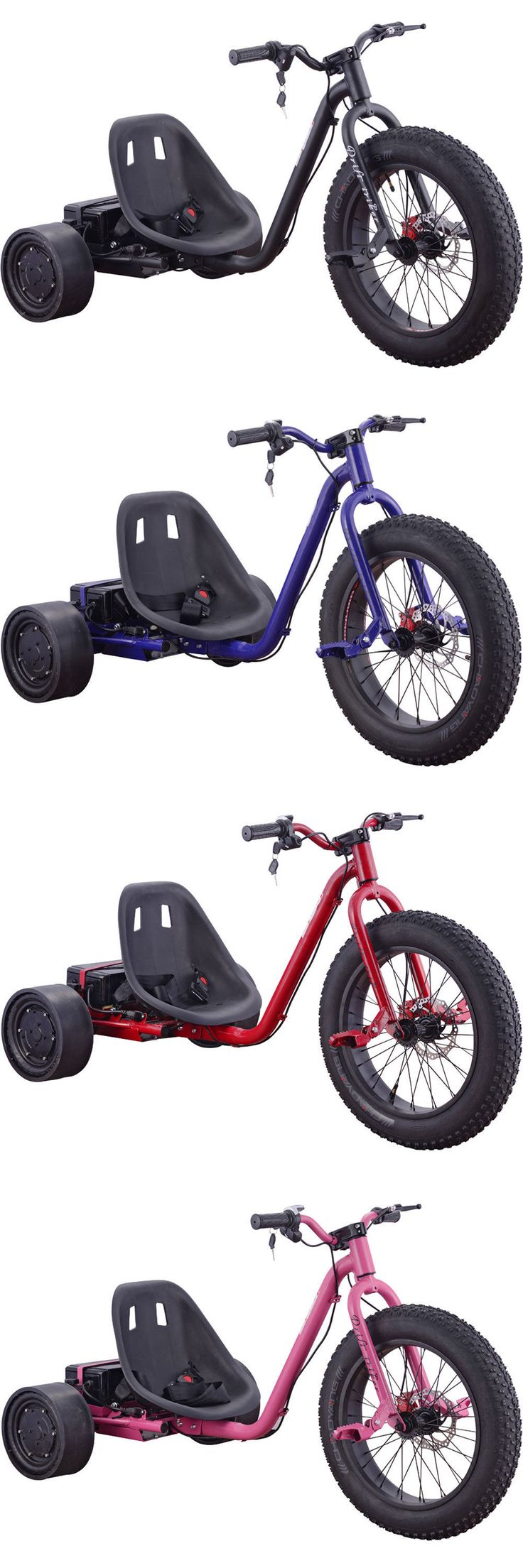 Electric scooters 47349 mototec drifter 36v 900w electric trike black blue red