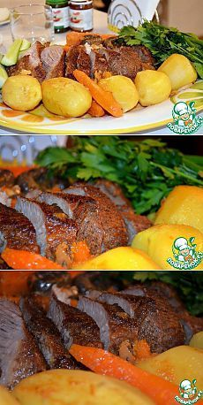 Запеченная говяжья грудинка - кулинарный рецепт
