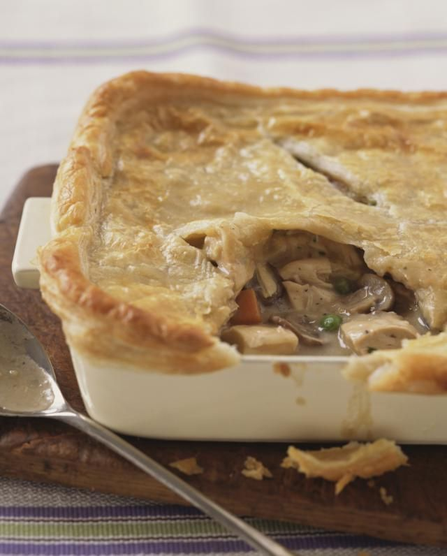 Nothing seems to satisfy more that this Easy Turkey Pot Pie recipe topped with puff pastry. It's delicious way to use up leftovers.