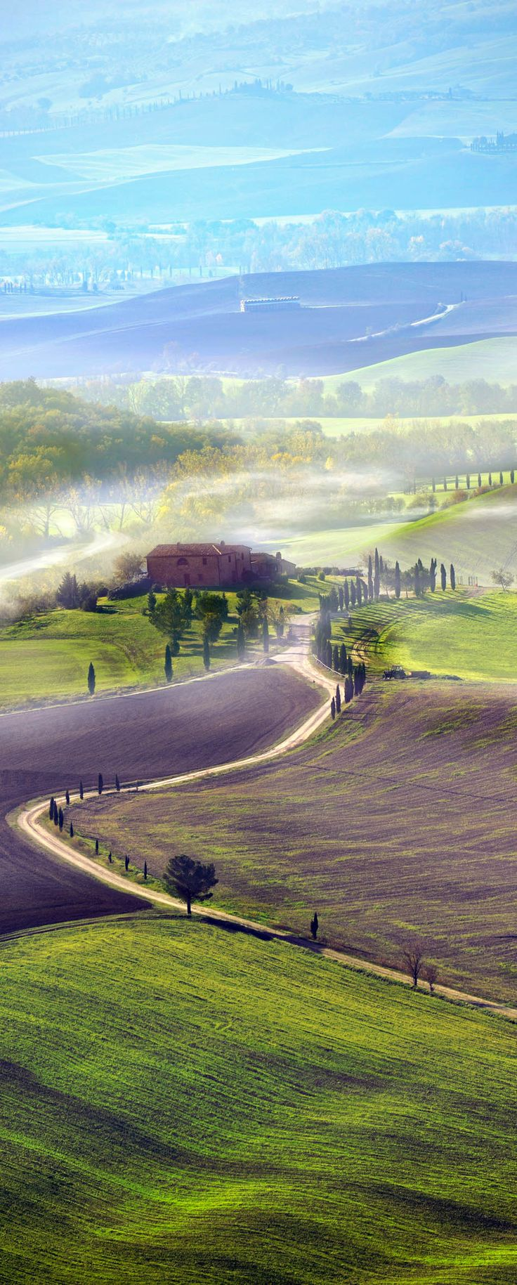 Countryside road in Tuscany, Italy