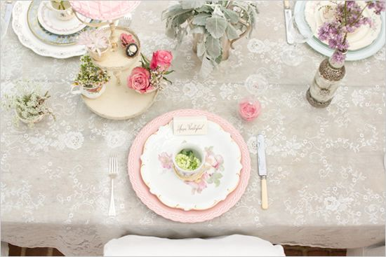 vintage lace table cloth wedding