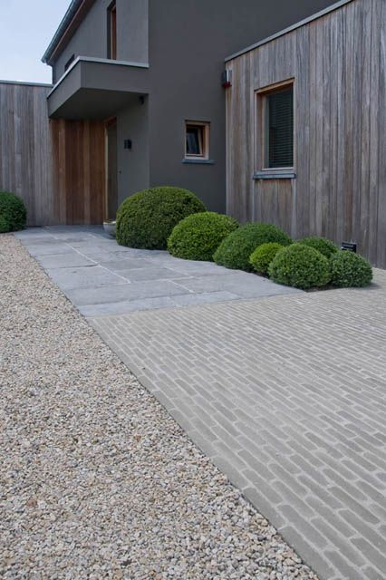 Vande Moortel - slate and pearl grey clay paver. Possible option for steps and paved area.