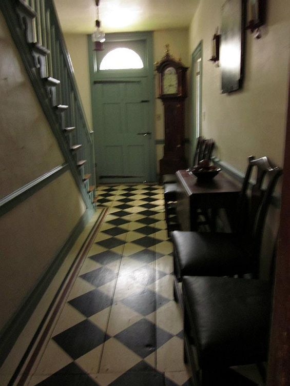 "Historic House Blog » Museum-Caliber ""Abner Richmond Tavern"" Love the floors..and door."