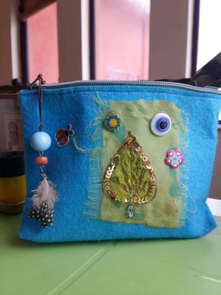 keçe çanta, keçe kalemlik, keçe makyaj çantası,  felt purse,