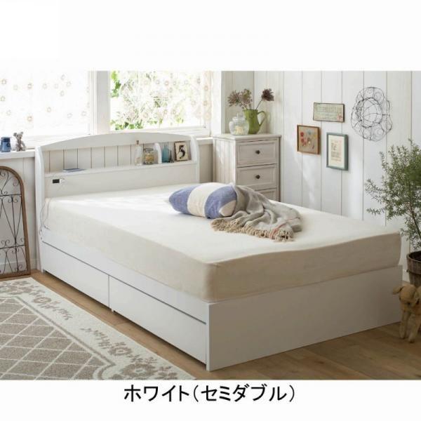 【大型】大量収納ベッド(セミダブル・本体のみ)