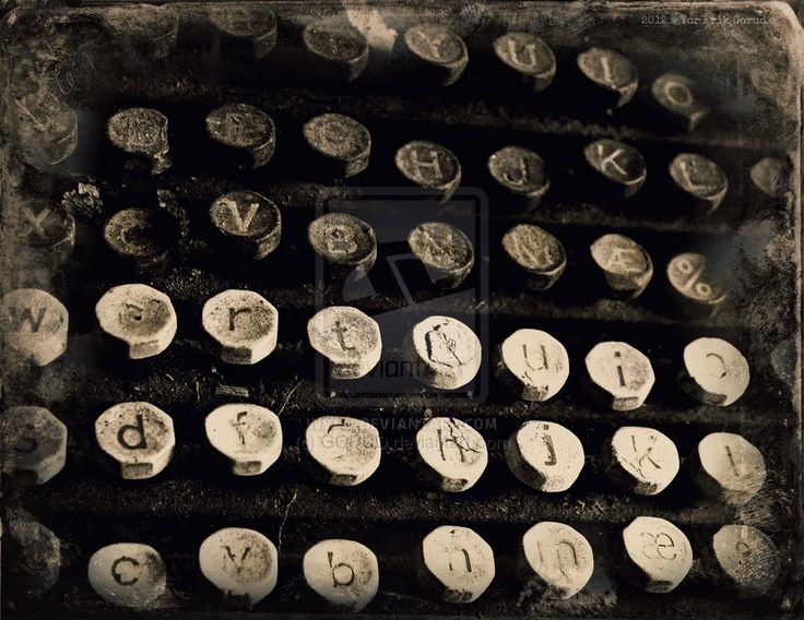 TYP [2012] by GORUD.deviantart.com on @deviantART #Typewriter #Vintage #Antique #Analogue #Art #BW