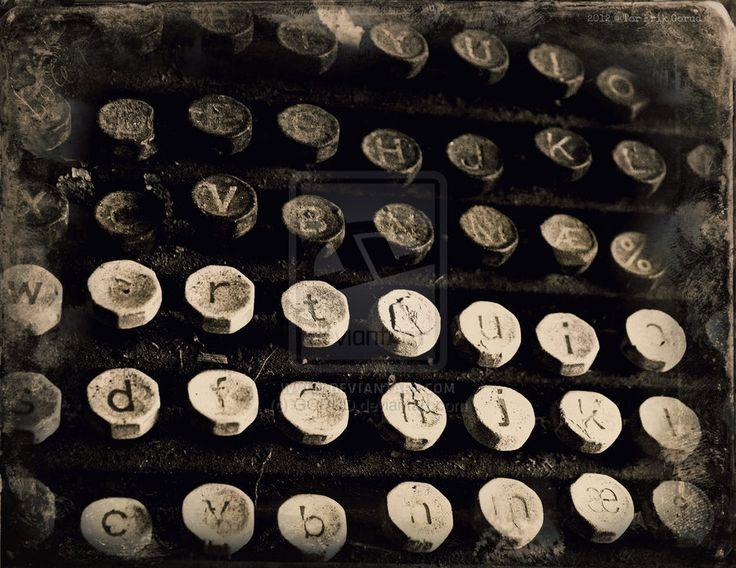TYP [2012] by GORUD.deviantart.com on @deviantART #Typewriter #Vintage #Antique #Analogue #Art #BW
