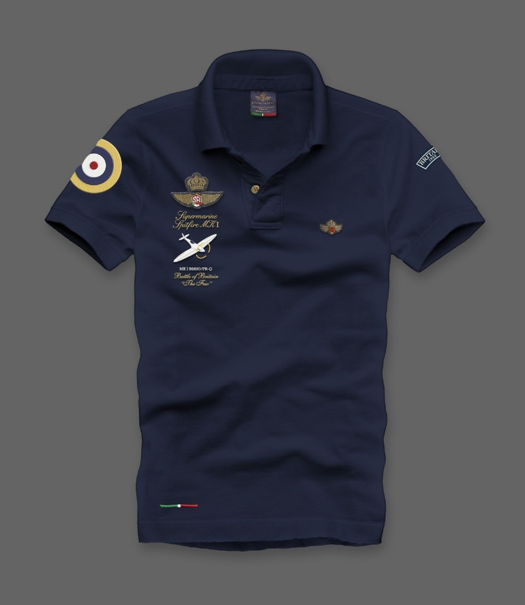 MM003S  Polo dedicated to the Fl.Lt.Dundas's Battle of Britain Supermarine Sptifire