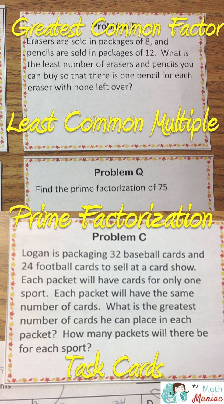 Get More Practice With Leastmon Multiple, Greatestmon Factor And  Prime Factorization A