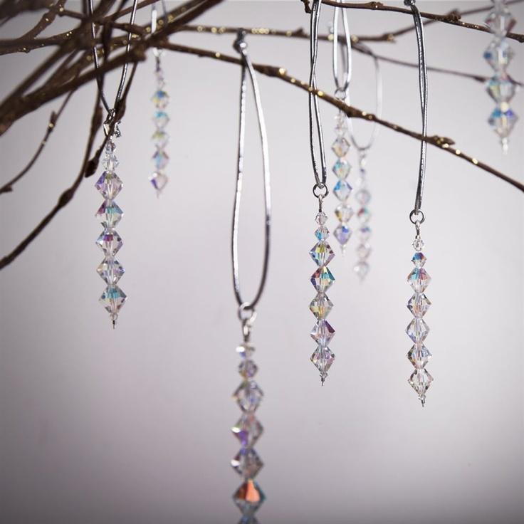 Crystal Drop Handmade Christmas Decorations