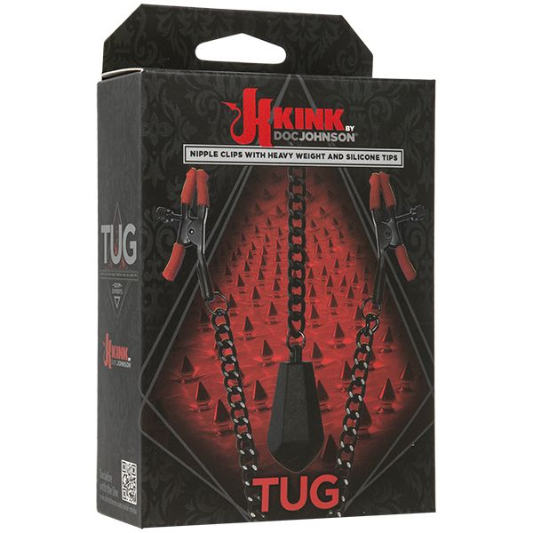 Kink - Tug - Nipple Clips with Heavy Weight and Silicone Tips