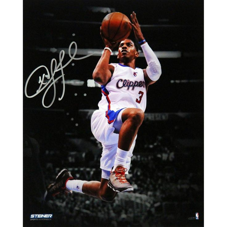 Chris Paul Los Angeles Clippers Layup Against Los Angeles Lakers Signed Vertical 8x10 Photo