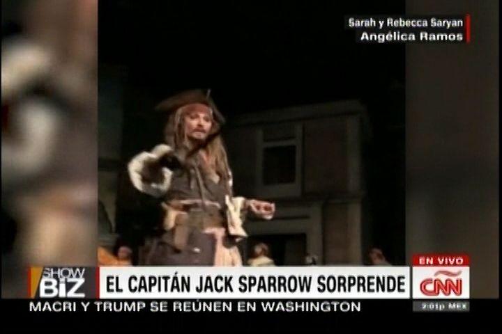 El Capitán Jack Sparrow Sorprende A Sus Fanáticos