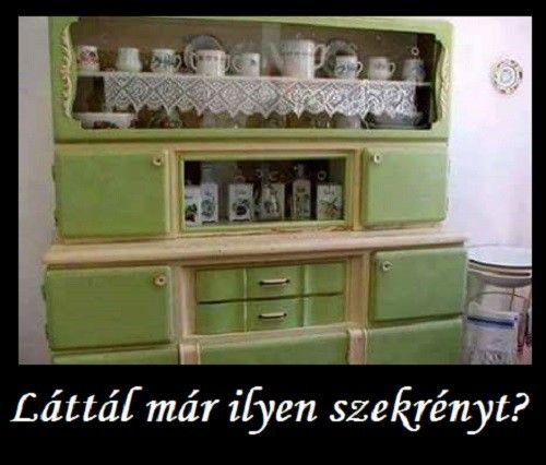 Te láttál annak idején ilyen konyhaszekrényt? Ha igen nyomj egy lájkot! Dédikémnek ilyen volt... - MindenegybenBlog