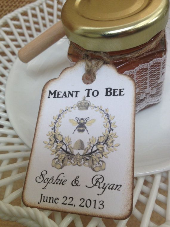 120 Qty Meant To Bee  Honey Wedding Shower Favors by holyhoney, $360.00
