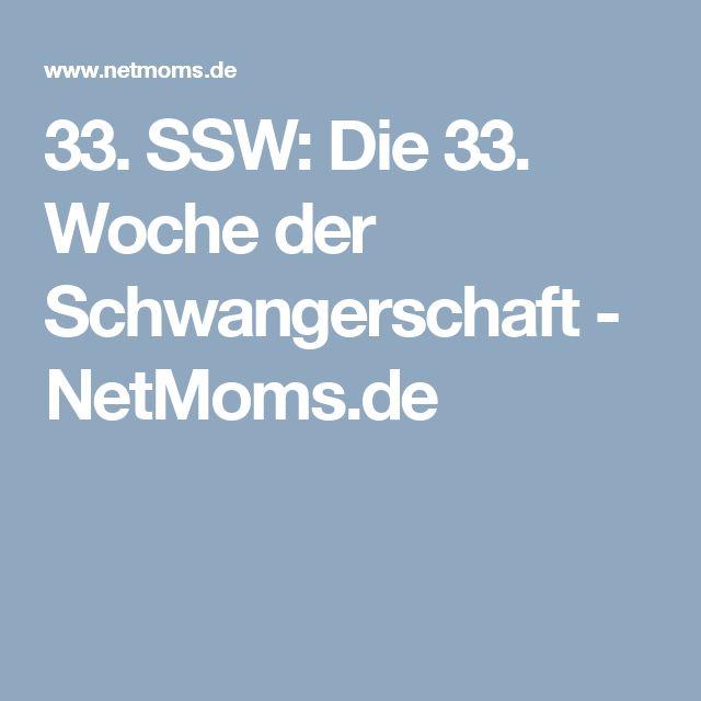 33. SSW: Die 33. Woche der Schwangerschaft - NetMoms.de