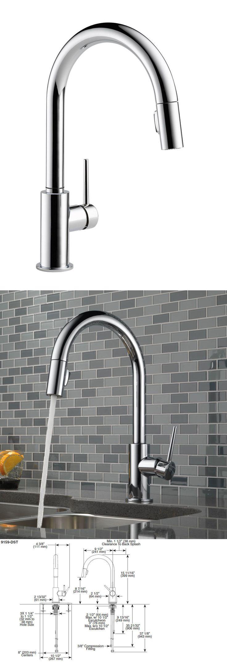 best 25 delta kitchen faucets ideas on pinterest kitchen faucets 42024 delta 9159 dst trinsic single handle pull down kitchen faucet
