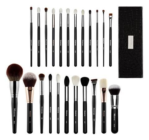 "Description Jaclyn says... Video    Ride-or-die Morphe babe Jaclyn Hill has hand-picked her 23 absolute favorite, most essential brushes and we've put them all together in one collection packed up in the luxe HH Snakeskin Case. You'll blend, buff, contour, line, wing and bake with expertise once you've put all of Jaclyn's tips to work. Shop the Brush Collection!   23 Ways to Slay. Jaclyn's faves, why she loves them and how she uses them... E18 - ""My favorite pencil brush. It's so soft a..."