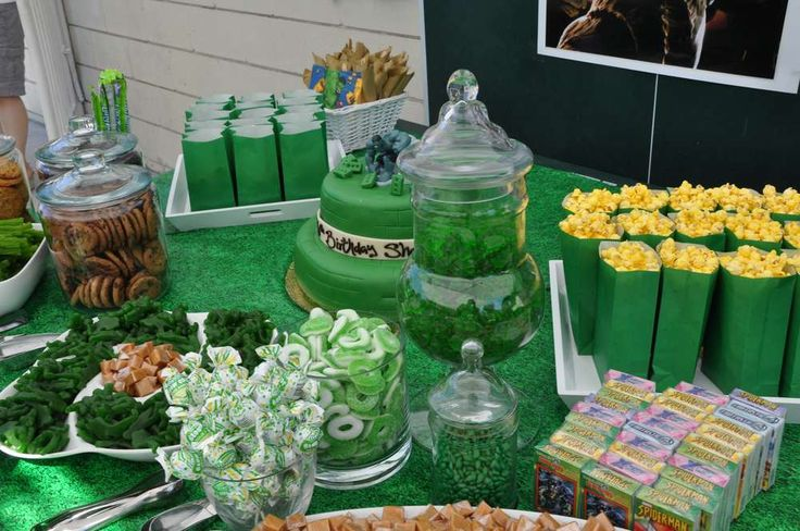 Incredible Hulk Birthday Party Ideas   Photo 14 of 47   Catch My Party