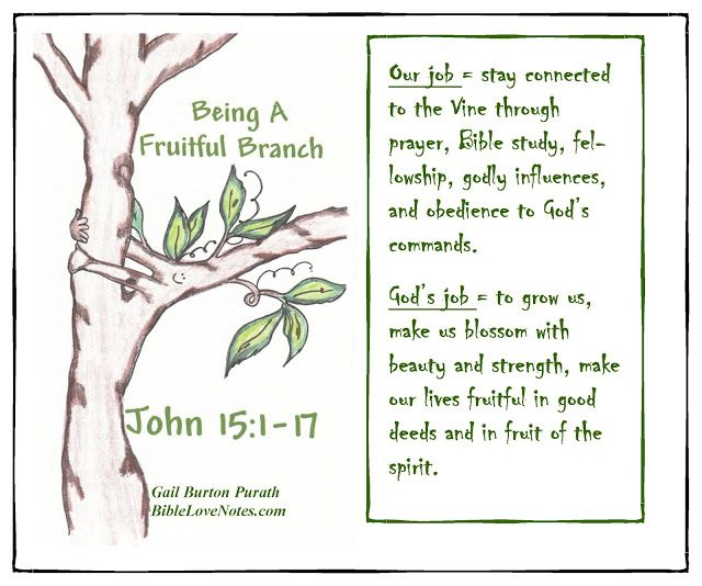 We sometimes get mixed up about our role and God's role. John 15 helps us understand the differences.