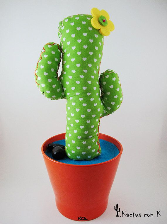 Customized handmade fabric cactus por KactusconK en Etsy