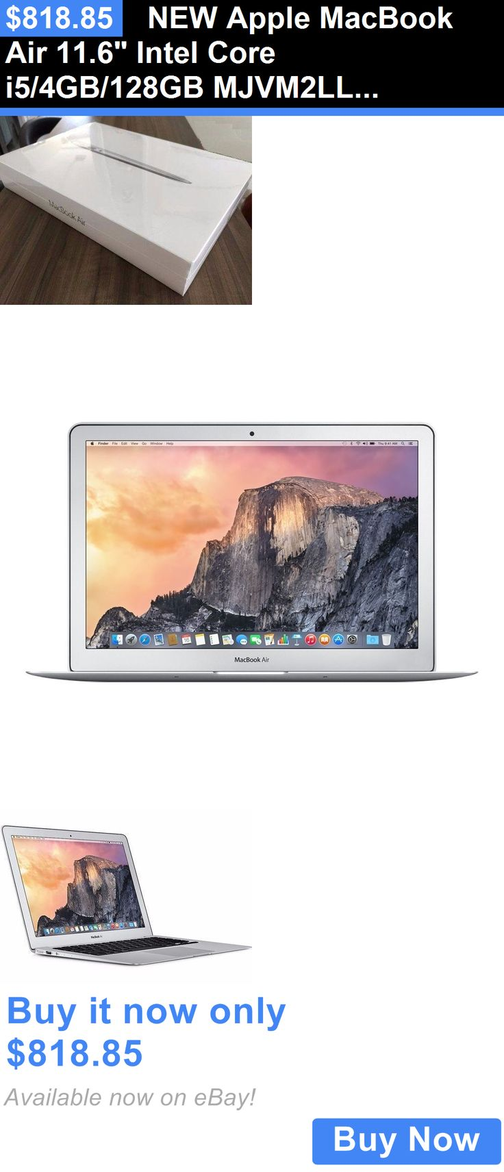 general for sale: New Apple Macbook Air 11.6 Intel Core I5/4Gb/128Gb Mjvm2ll/A World Ship Silver BUY IT NOW ONLY: $818.85