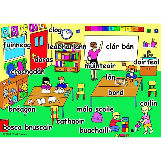 classroom words in the irish language