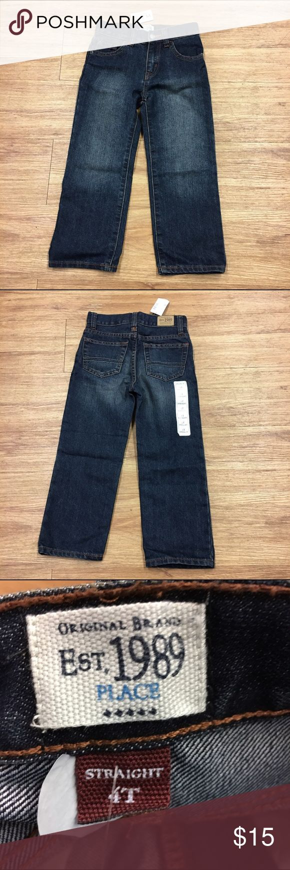 NEW NWT Children's Place Boys Straight Jeans 4T NEW NWT Children's Place Boys Straight Jeans 4T  Color: Iceberg Wash Style: Straight Size: 4T  5 pockets Belt Loops Adjustable Waist  #new #nwt #jeans #bluejeans #denim #straight #icebergwash #adjustablewaist #blue Children's Place Bottoms Jeans