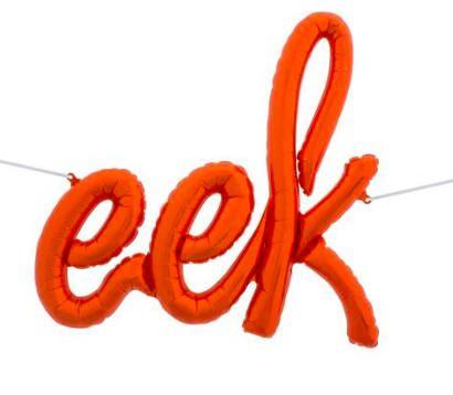 EEK Halloween Balloon Banner - Orange Halloween Decorations, Halloween Party Decor, Halloween Decorations, By Paper Rabbit on Etsy by PaperRabbit87 on Etsy