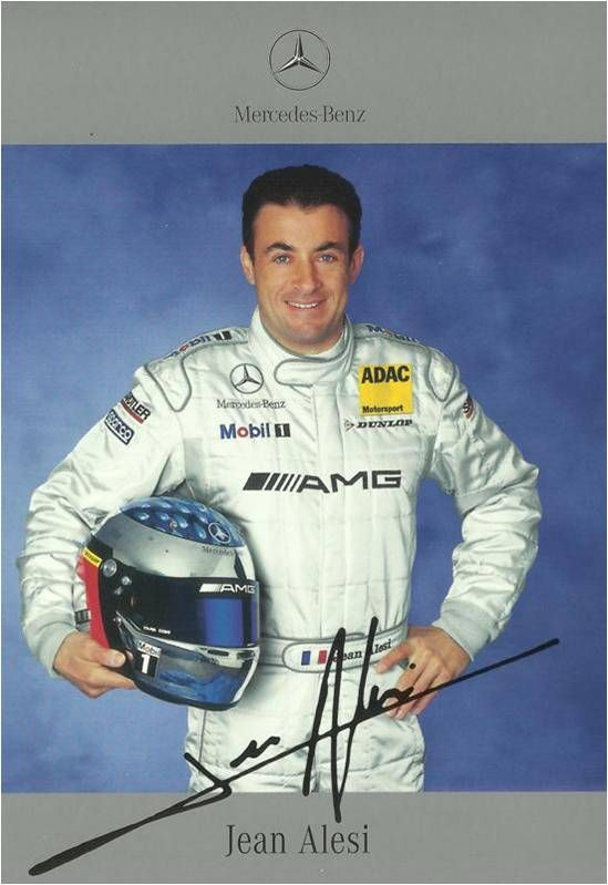 Autograph:Jean Alesi,Formula One driver,DTM AMG driver.