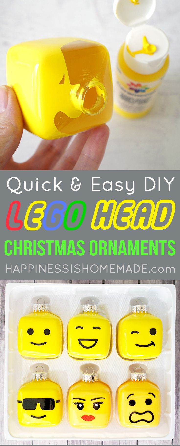 Kids' LEGO Themed Christmas Tree Ornaments + Tips for Keeping Your Tree Fresh & Green! #BestTreeEver #ChristmasMiracle #ad @MiracleGro