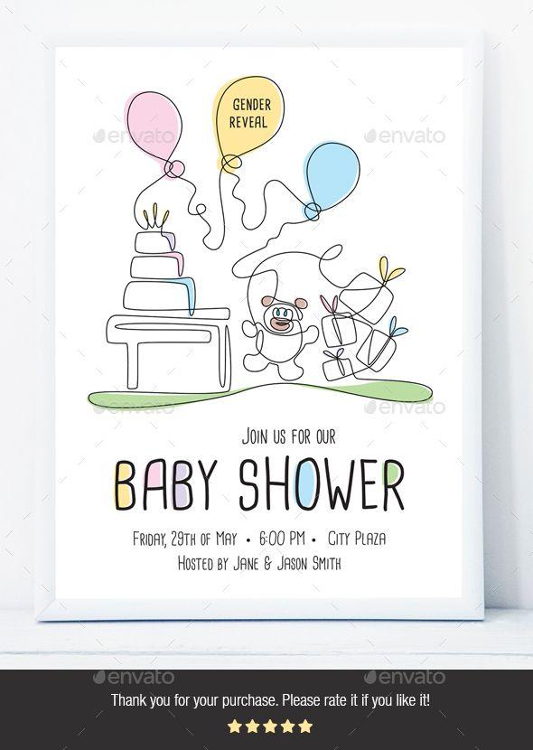 Baby Shower Flyer Fully Editable Flyer Template Flyer Design Printdesign Template Announcement Baby Babyflyer Flyer Printed Baby Shower Flyer Template