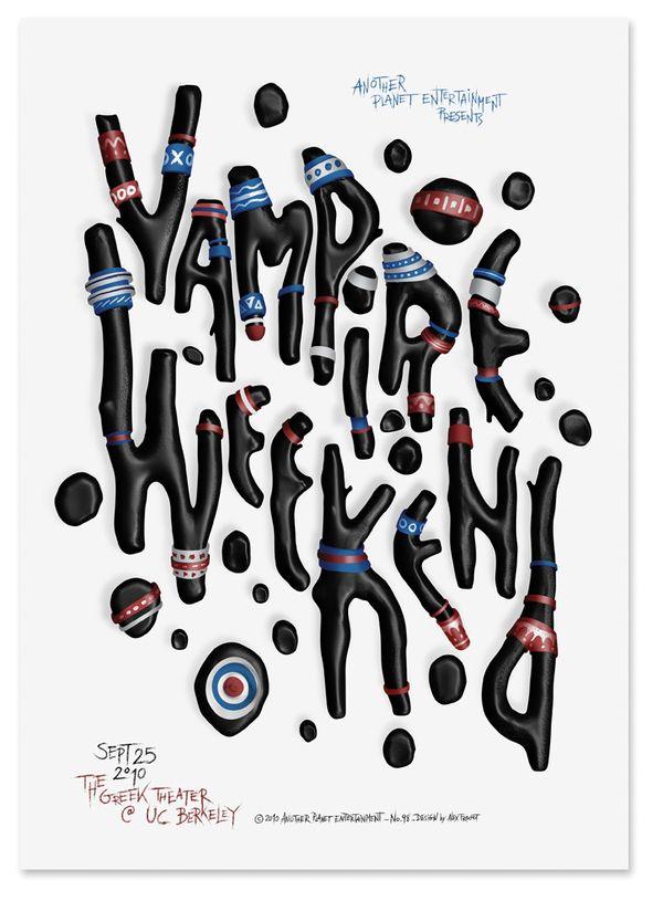 Vampire Weekend | Designer: Alex Trochut