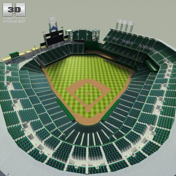 How We Made A Baseball Stadium 3d Model Hum3d Blog Baseball Stadium Stadium Baseball Game Outfits